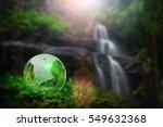 earth world globe crystal on... | Shutterstock . vector #549632368