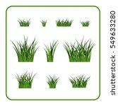 green grass bushes set. nature... | Shutterstock . vector #549633280