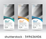 roll up banner stand template... | Shutterstock .eps vector #549636406
