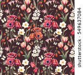 watercolor botanical spring... | Shutterstock . vector #549637084