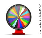 colorful wheel of fortune on... | Shutterstock .eps vector #549645340