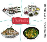 vietnamese menu colorful... | Shutterstock .eps vector #549648250