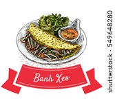 banh xeo colorful illustration. ... | Shutterstock .eps vector #549648280