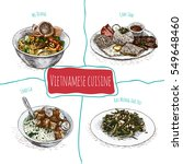 vietnamese menu colorful... | Shutterstock .eps vector #549648460