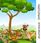vector illustration of wild... | Shutterstock .eps vector #549651094
