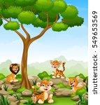 vector illustration of wild... | Shutterstock .eps vector #549653569