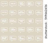speech bubbles set.   Shutterstock .eps vector #549662656