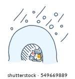 the cat which exceeds cold | Shutterstock . vector #549669889