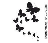beautiful butterflies  on a... | Shutterstock .eps vector #549672388