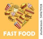 fast food symbol in shape of... | Shutterstock .eps vector #549675928