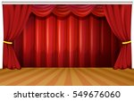 stage with red curtains... | Shutterstock .eps vector #549676060