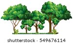 scene with many trees... | Shutterstock .eps vector #549676114