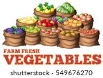 different types of fresh... | Shutterstock .eps vector #549676270