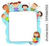illustration of kids peeping... | Shutterstock . vector #549686503