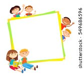 illustration of kids bunner... | Shutterstock . vector #549686596