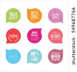 modern badges collection | Shutterstock .eps vector #549687766