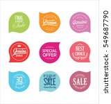 Modern badges collection | Shutterstock vector #549687790