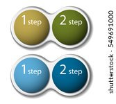 two steps business infographic... | Shutterstock .eps vector #549691000