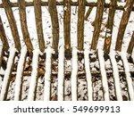authentic rustic wooden bench... | Shutterstock . vector #549699913
