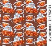 seamless pattern of a glass... | Shutterstock . vector #549702496