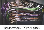 wiring plc control panel with... | Shutterstock . vector #549715858