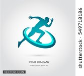 Man Running Silhouette  Logo...