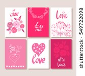 set of valentines day postcards.... | Shutterstock .eps vector #549722098