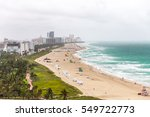south beach view from above ... | Shutterstock . vector #549722773