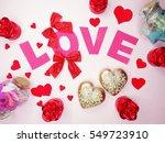 greeting card love valentine's...   Shutterstock . vector #549723910