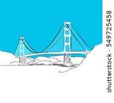 golden gate bridge  vector ...   Shutterstock .eps vector #549725458