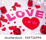 greeting card love valentine's... | Shutterstock . vector #549726994