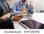 medical technology network team ... | Shutterstock . vector #549728590