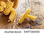 Uncooked Pasta Fusilli Of Italy