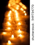 lit candles in a row | Shutterstock . vector #549734770