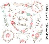 vector wedding elements  ... | Shutterstock .eps vector #549735040