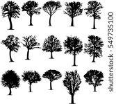 trees sets design vector | Shutterstock .eps vector #549735100