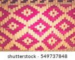 brown handicraft weave texture... | Shutterstock . vector #549737848