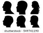 isolated silhouette portraits... | Shutterstock . vector #549741190