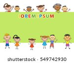 illustration of kids bunner... | Shutterstock .eps vector #549742930