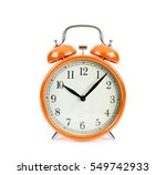 orange alarm clock isolated on... | Shutterstock . vector #549742933
