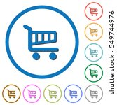 cart flat color vector icons... | Shutterstock .eps vector #549744976