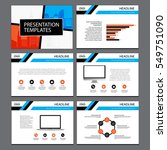 business template design set... | Shutterstock .eps vector #549751090
