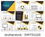 business template design set...