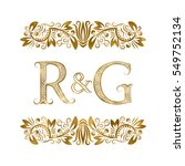 r and g vintage initials logo... | Shutterstock .eps vector #549752134