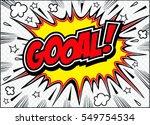 goal comic speech bubble.doodle ... | Shutterstock .eps vector #549754534