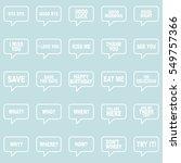 speech bubbles set.   Shutterstock .eps vector #549757366