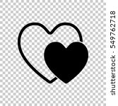 2 hearts. simple icon. black... | Shutterstock .eps vector #549762718