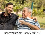 dad and son having fun in the... | Shutterstock . vector #549770140