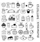 tea  coffee and desserts doodles   Shutterstock .eps vector #549770713