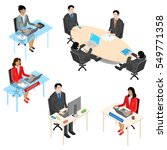 set of business people in... | Shutterstock .eps vector #549771358